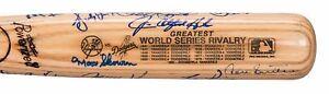 New-York-Yankees-amp-Los-Angeles-Dodgers-Team-Signed-World-Series-Bat-JSA-COA