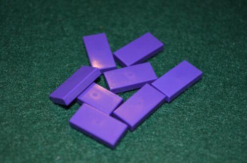DARK PURPLE 1x2 Smooth Finishing Tile Brick Bricks  ~ Lego  ~ NEW 8