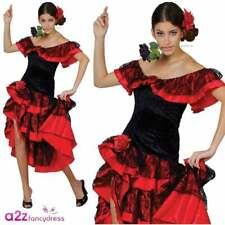 3929a19f4458 item 4 Ladies Spanish Senorita Costume Rumba Flamenco Dancer Salsa Fancy  Dress Outfit -Ladies Spanish Senorita Costume Rumba Flamenco Dancer Salsa  Fancy ...