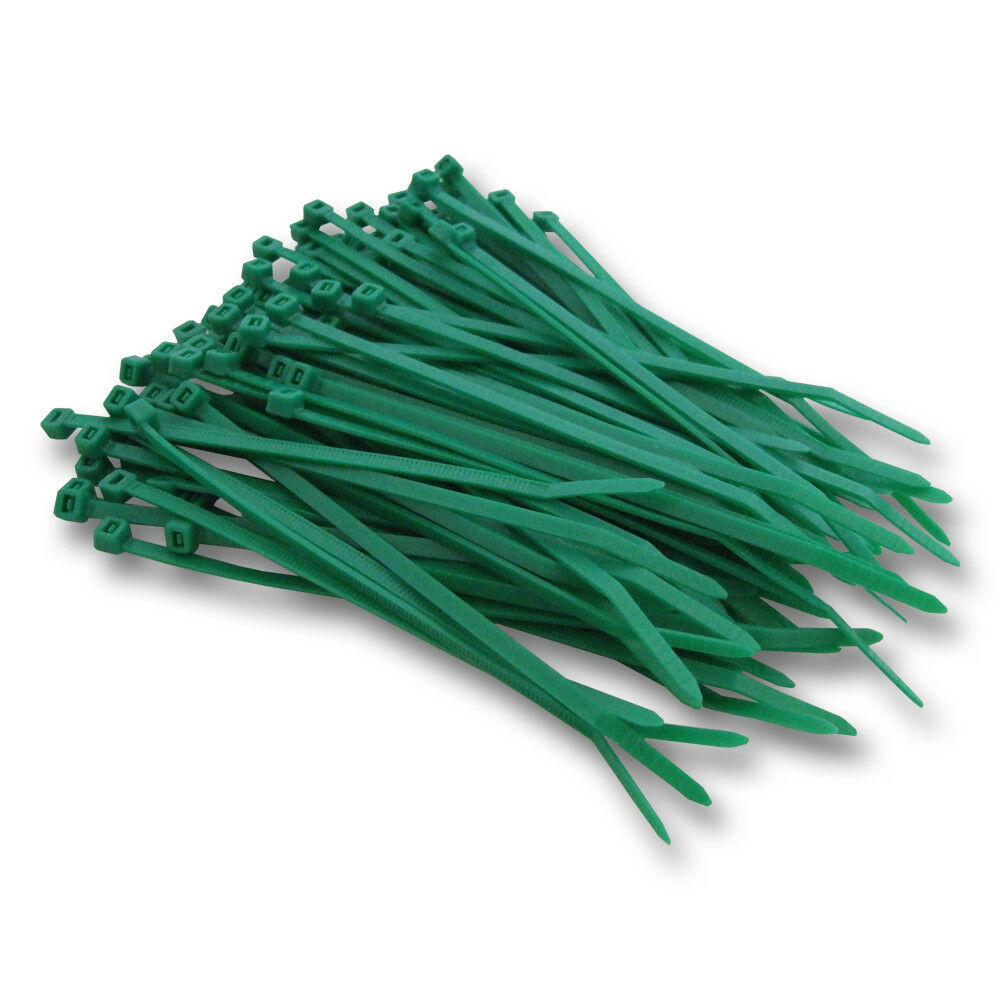 Green Cable Ties 140mm x 3.6mm - Pack of 50