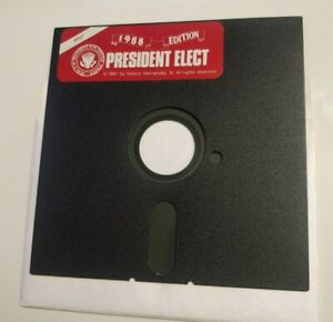 President-Elect-Apple-II-1988-Edition-5-25-Floppy-Game-IIc-IIe-IIgs-TESTED