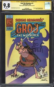 GROO-THE-WANDERER-Pacific-Comics-1-CGC-9-8-SS-Double-signed-Sakai-Aragones
