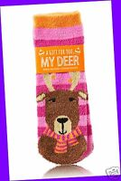 Bath & Body Works A Gift For You, My Deer Dear Red Shea Infused Lounge Socks