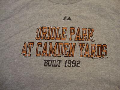 MLB Baltimore Orioles Baseball Oriole Park Camden Yards Gray T Shirt XL/2XL