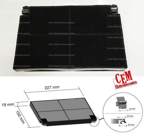 KIT 2 FILTRI ai carboni attivi per cappa 227 x 150 mm diam filtro cucina FABER