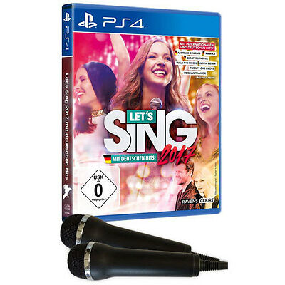 Sony PS4 Playstation 4 Spiel * Lets Sing 2017 inkl. Deutschen Hits inkl. Micros