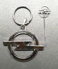Opel Schlüsselanhänger Blitz im Set mit Anstecknadel Keyring 49mm Logo Emblem