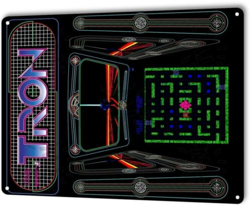 Tron Classic Bally Midway Arcade Marquee Game Room Wall Decor Metal Tin Sign