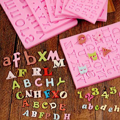 Letter Alphabet Silicone Cake Mold Fondant Cupcake Sugar Craft Baking Tool Mould