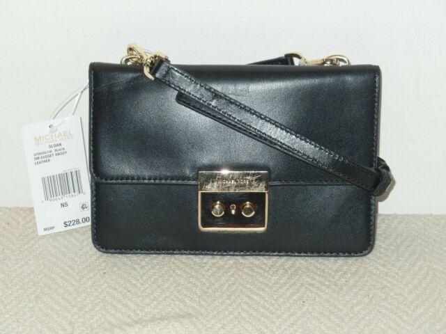 Michael Michael Kors Sloan Small Gusset Leather Crossbody Black