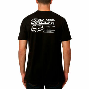 Fox-Racing-Men-039-s-Pro-Circuit-Premium-Short-Sleeve-T-Shirt-Black-Clothing-Tees