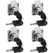 Desk Drawer Lock Cam Cylinder Key Lock Tool Cabinet 1 Piece 2 Keys