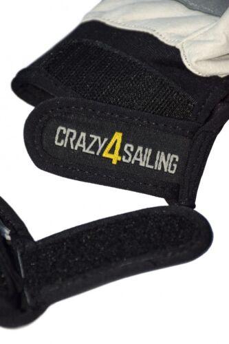 crazy4sailing Amara Kunstleder Segelhandschuhe Racing 5 Finger frei Segeln Glove Bekleidung Bootsport