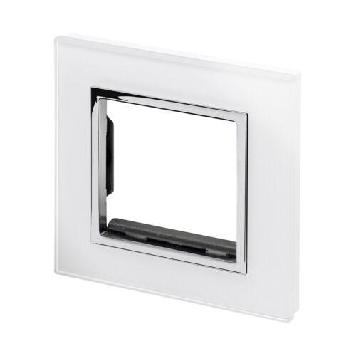 Retrotouch Rechange Façade en verre pour Blanc CT plaque unique Commutateur 04940