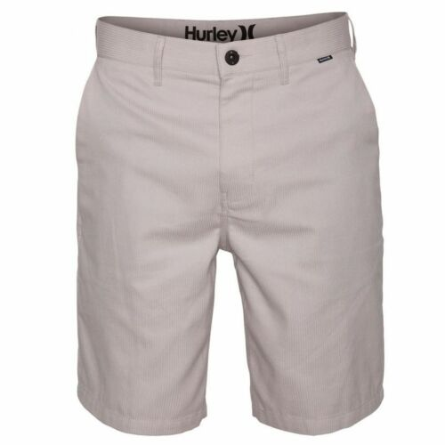 New HURLEY gray stripe khaki STATIC Chino long walking skate shorts sz 40