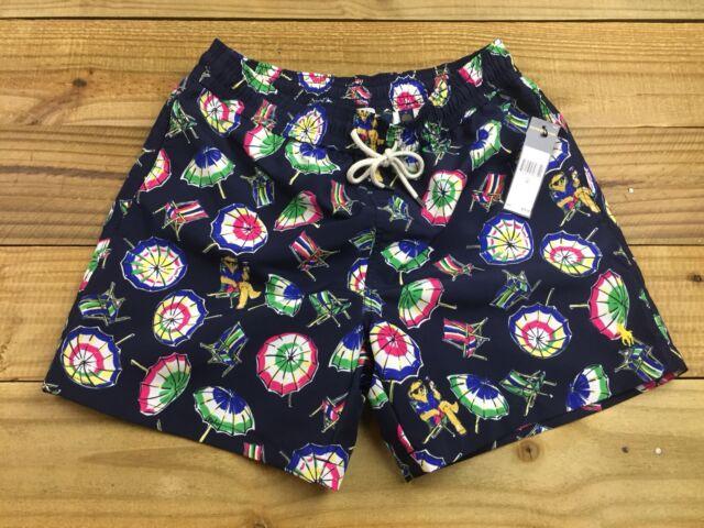 4428add46c9c1 NWT Ralph Lauren Polo Martini Beach Bear Swim Trunks M Swimwear $75.00 Pbear