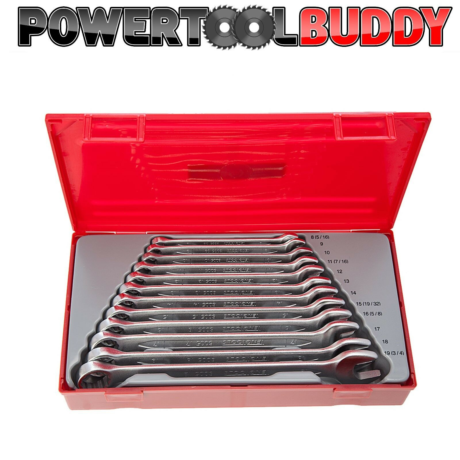 Teng TT1236 12 Piece METRIC Combination Spanner Wrench Set