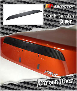 Carbon Fiber Rear Trunk Garnish Cover Trim for Toyota 86 SCION FR-S SUBARU BRZ