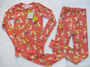 Hanna Andersson 100 120 130 150 160 Girls Pajamas Short John Organic Cotton NEW