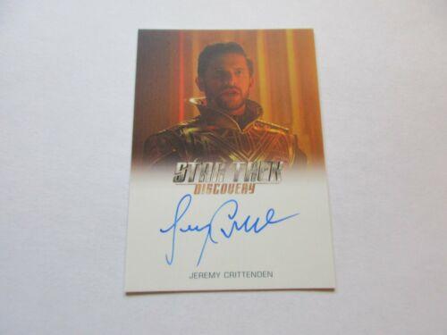 Lord Eling FULL BLEED Autograph Star Trek Discovery Season 1 Jeremy Crittenden