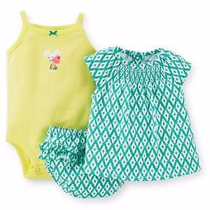 Carters 3 Piece Diaper Set Newborn 9 12 18 Or 24 Months Baby Girl Ebay