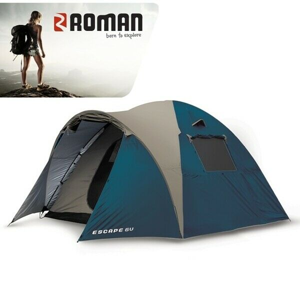 New Roman Escape 6 Dome Tent Camping Hiking High Quality Waterproof Sleeps 6