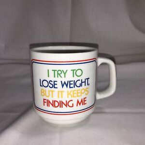 Image Is Loading Coffee Mug 034 I Try To Lose Weight