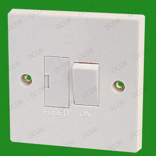 PLASTIQUE Blanc Bs1363 1 X 13a Interrupteur Fusible Intégré Ce