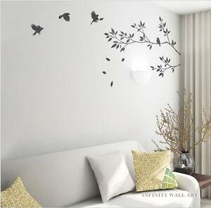 Wall Stickers Tree Flower Kids Art Murals Decals Butterfly Home Vinyl Decor-P64