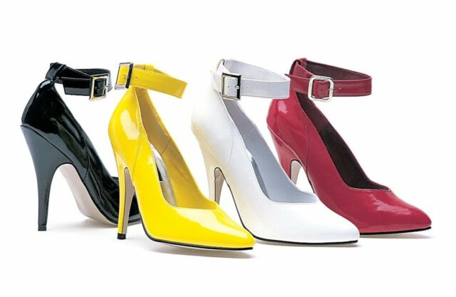 Ellie 8221 classic ankle strap pumps 5 inch stiletto high heel women's shoes
