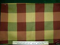 Burgundy And Gold Squares Fabric W/trim Lovely