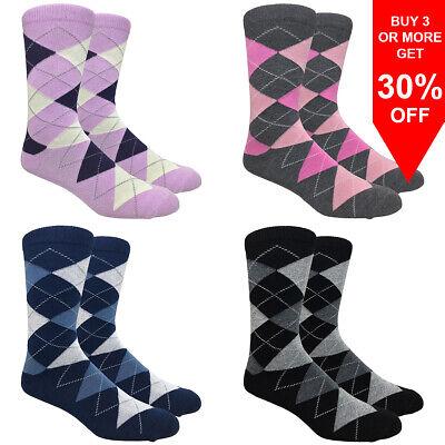 Mens dress diamond  new argyle socks assorted colours suit socks
