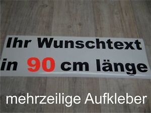 Wunschtext-Aufkleber-Auto-Domain-Beschriftung-Schriftzug-90cm-mehrzeilig