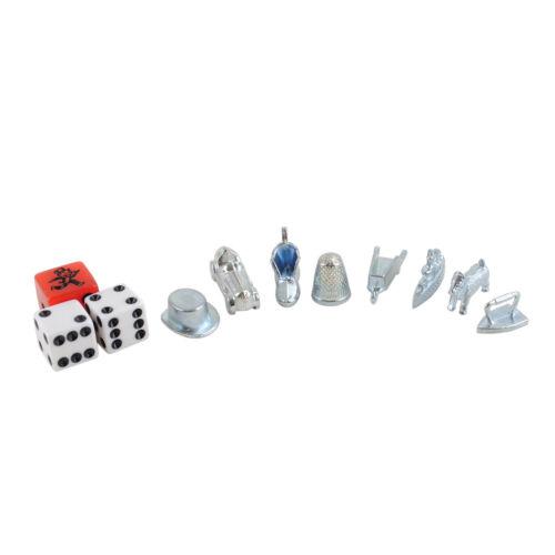 Monopoly Stadtedition Figurines Et Dés Argent Avec Tempowürfel Rechange