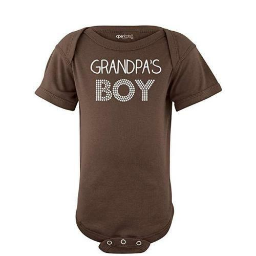 Grandpa's Boy Sweet Short Sleeve Baby Bodysuit