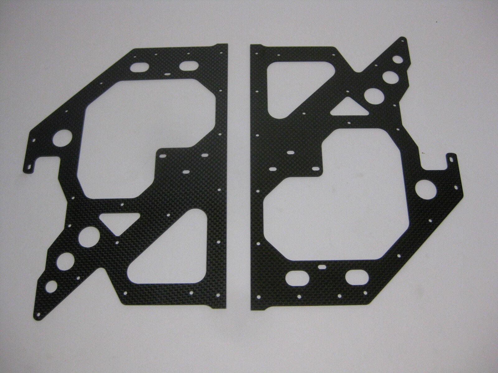 HIROBO 0414-158 Untere Seitenplatten Carbon EX MAIN FLAME FOR DTDS  Neu