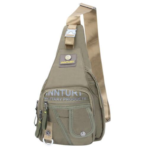 Men/'s Women/'s Nylon Sling Chest Bag Multi pocket Backpack Hiking Bicycle Innturt