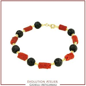 Silver Plated Red Coral Bracelet