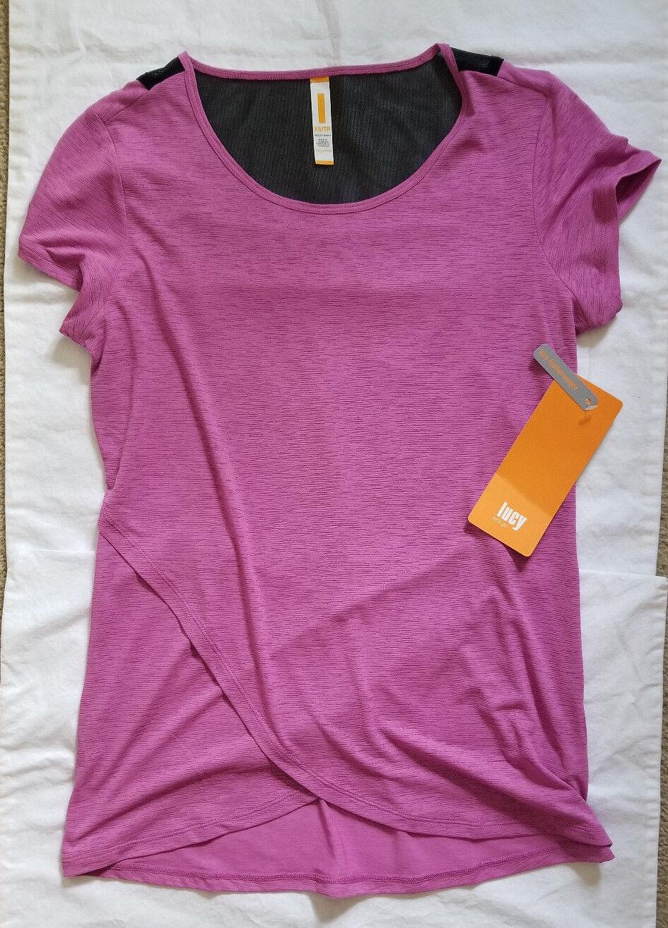 Lucy Activewear Sun Salutation Short Sleeve Top XS NEW