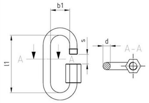 9077 Schraubverbinder Edelstahl A4 verschiedene Abmessungen Art