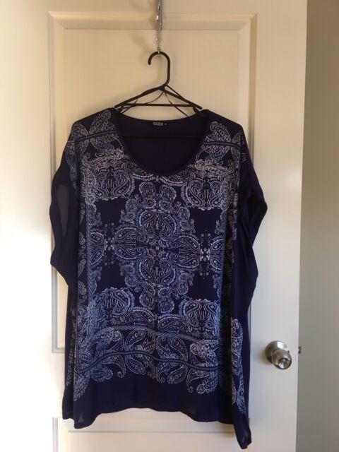 Target Moda Blue Shirt Top size 26