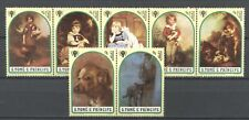 Tiere, Hunde, Dogs, Gemälde - Sao Tome - 722-728 ** MNH 1979
