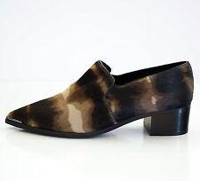Acne Studios Jaycee Lamb Hair Point-Toe Loafers EU 39 US 9