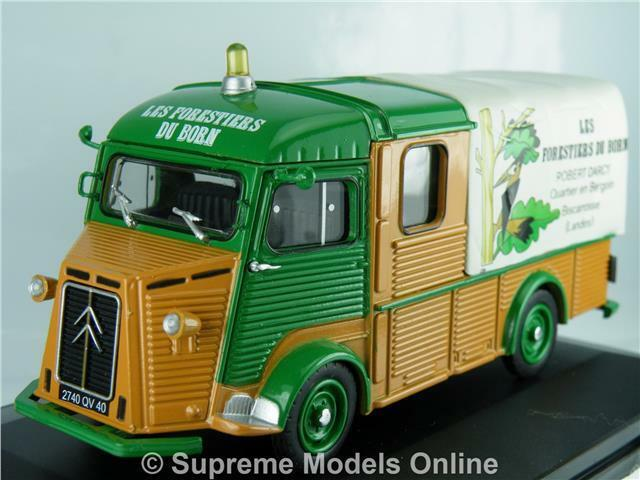 CITROEN TYPE HY 1968 PLATEAU DOUBLE CABINE CABINE CABINE 1 43 BROWN GREEN EXAMPLE T3412Z(=) 001e1a