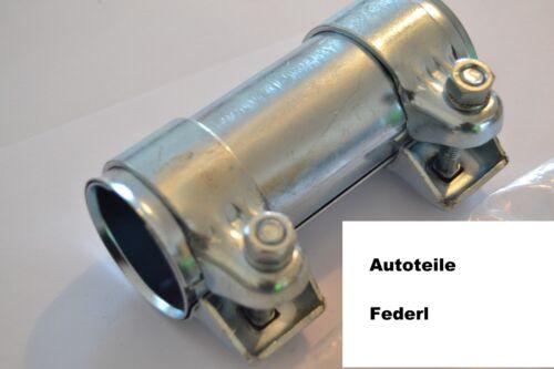 Opel Skoda Rohrverbinder//Doppelschelle 43 mm x 125 mm Ford Audi A6 Seat VW