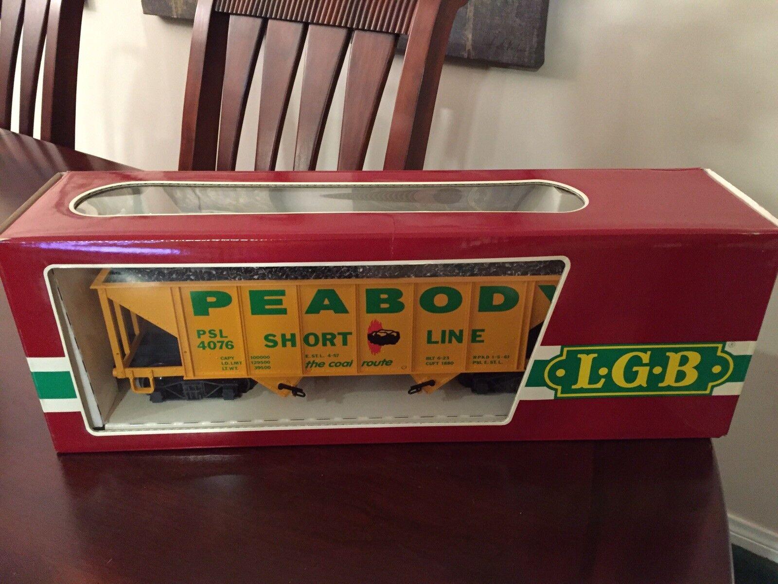 Brand New LGB Peabody Short Short Short Line Coal Car 4076 X01 a96d5c