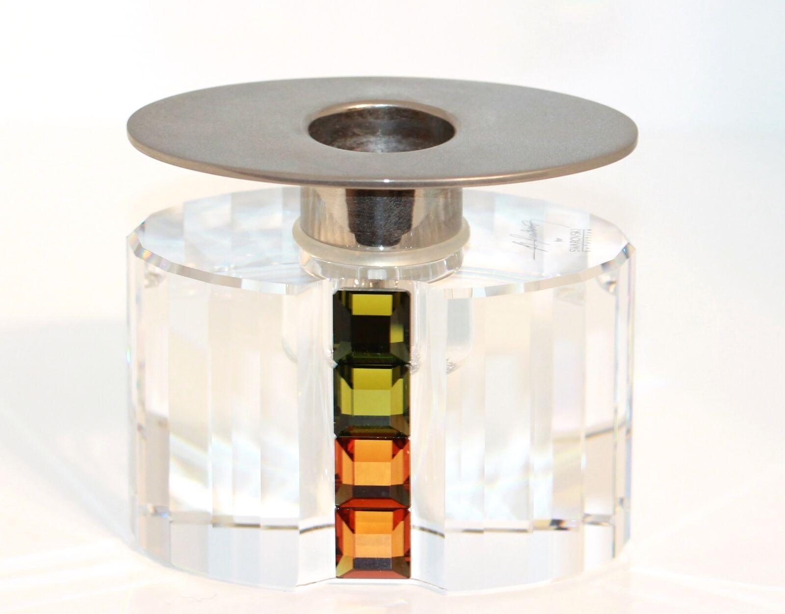 Swarovski Selection Designer candeleros olivino Topaz nº 276705 firmado