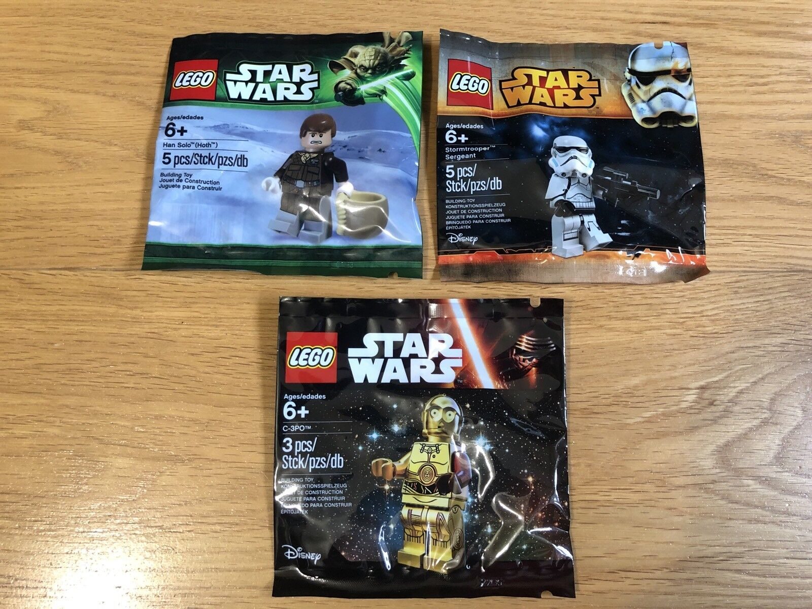 SEALED Lego Star Wars Minifigure 3x Polybags Collection EXCLUSIVE