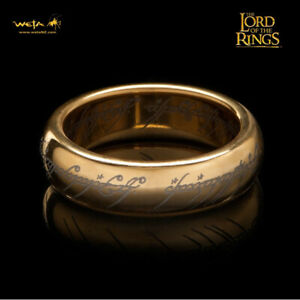 WETA-The-One-Ring-Lord-Of-The-Rings-Gollum-Frodo-W-Runes-Replica-SZ-9-NEW