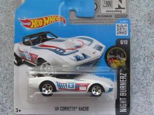 Hot-Wheels-2016-086-250-1969-Corvette-Racer-Hw-Notte-Burnez-Astuccio-Q-Nuovo